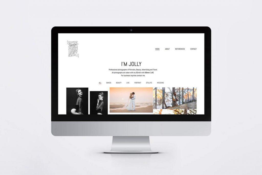 Jolly Schwarz Photography Branding design Visitenkarten Business Gestaltung